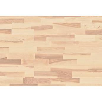 Паркетная доска Boen Ясень алегро, белый мат. лак, Коллекция Longstrip